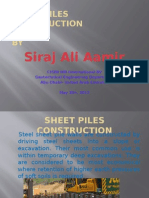 Sheet Pile Construction Presentation