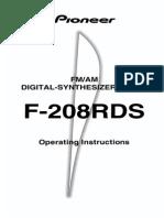 F-208RDS Manual