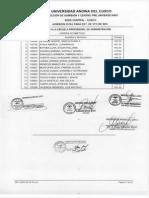 Ingresantes Examen Admision 2016-i Est 5to Sec