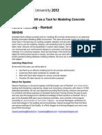 Revit Tool for Modeling Concrete Reinforcement