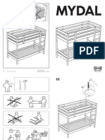 Ikea Mydal Bunk Bed Frame Twin Assembly Instruction