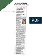 Jagdish Tytler Sikh Case Reopened 05.12.2015