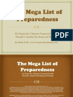 The Mega List of Preparedness