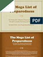 The Mega List of Preparedness