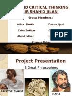 Logic and Critical Thinking by Sir Shahid Jilani