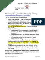 piagets task observation form