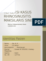 REFLEKSI KASUS RHINOSINUSITIS