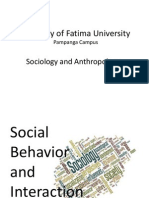 Social Behavior and Interaction