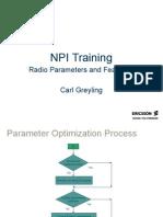 Npi Training Parameter Optimization