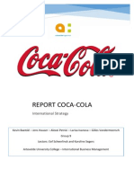 international strategy coca-cola report