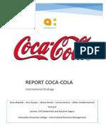 international strategy coca-cola report