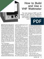 Vhf Swr Meter