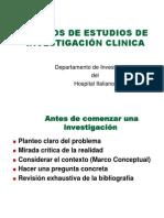 3.1) Diseños de Investigación