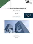 Advanced Marketing Research