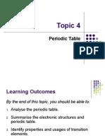 Topic 4 Periodic Table