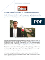 Nicolas Dupont-Aignan, le dernier des opposants