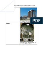 greek and roman architecture vocabulary cards