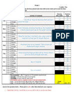 workout logs for wk 3 and 4