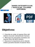 Semiología - Osteomuscular, Muscular y Columna Vertebral