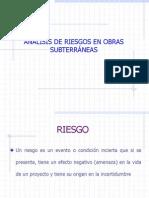 18.- Análisis de Riesgos en Obras Subterráneas