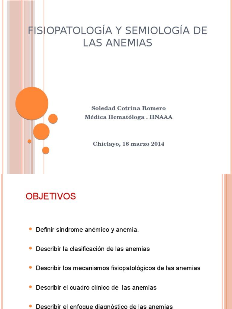Fisiopatología y Semiología - Anemia