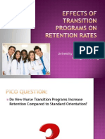 effects of transition programs on retention rates power point