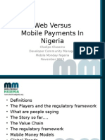 Web Versus Mobile Payments