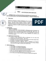 Directiva de Finalizacion Del Año Escolara 2015