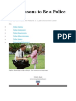 Five Reasons to Be a Police Officer