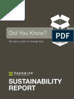 Packsize Sustainability Report