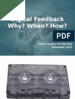 Digital Feedback (TESOL)