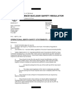 Safety Statements by British Ministry of Defence regarding Operational Berth Safety - DNSR Redacted