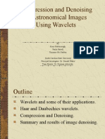 Compression and Denoising of Astronomical Images Using Wavel