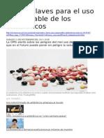 Cuatro Claves Para El Uso Responsable de Los Antibióticos