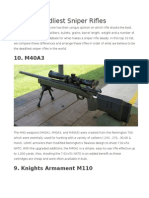10 Deadliest Sniper Rifles