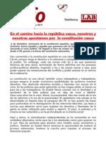 La Constitución Vasca