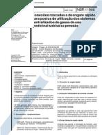NBR 11906 - Conexoes Roscadas E de Engate Rapido Para Postos de Utilizacao Dos Sistemas Centraliz