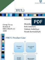 Hindustan Unilver Distribution System