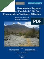 Boletin Nº 031- Prospeccion Geoquimica Regional Al Norte Del Paralelo 8º 00 Sur