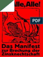 Feder, Gottfried (1919) - Das Manifest Zur Brechung Der Zinsknechtschaft Des Geldes 1919 62 S.