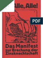 Feder, Gottfried (1919) - Das Manifest Zur Brechung Der Zinsknechtschaft Des Geldes 1919 65S Scan Frakturt