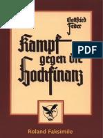Feder, Gottfried - Kampf Gegen Die Hochfinanz (1935, 384 S., Scan, Fraktur)
