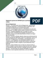 Reglamento General ORTMUN