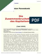 Pannekoek, Anton (1934) – Die Zusammenbruchstheorie Des Kapitalismus (R. Luxemburg)
