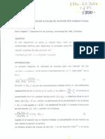 Cinética de La Hidrólisis Alcalina de Un Éster Por Conductivdad Eléctrica