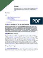 Drugs in Pregnancy