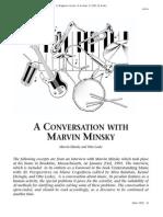 Laske 1992 a Conversation With Marvin Minsky