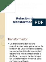 Relacion de Transformacion