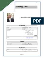 CV of Dr. Mohamad Azzam Sekheta English Version
