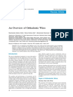 An Overview of Orthodontic Wires